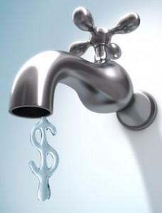 Pénz folyik a vízcsapból, ha nem zárod el, elfolyik a pénzed!